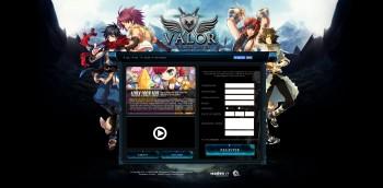 ValorRO Landing page
